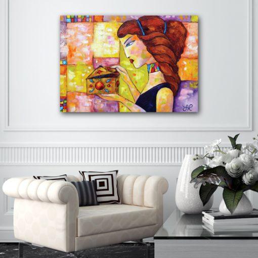 plakat jak malowany rudowłosa kobieta