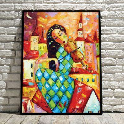 kolorowa dekoracja do salonu