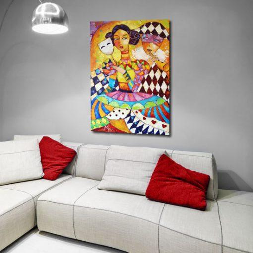 kolorowe dekoracje do salonu