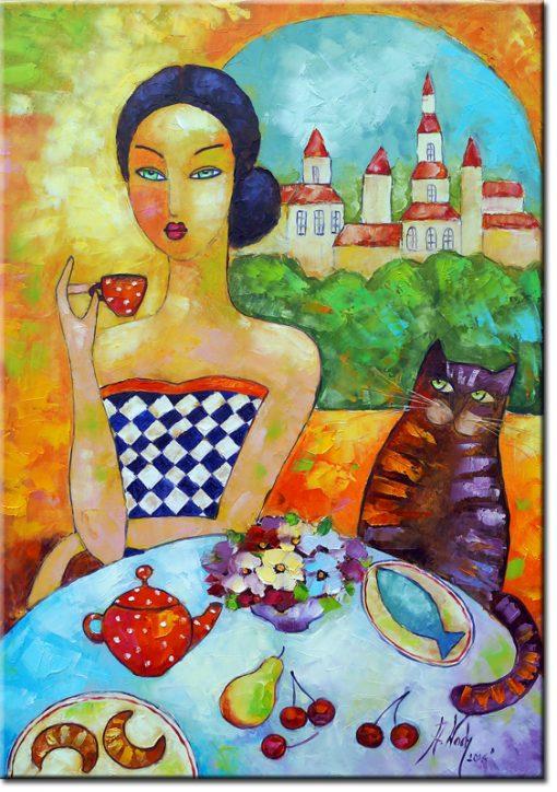 plakat francuskie śniadanie