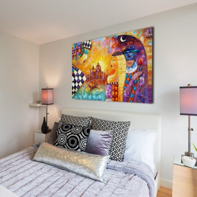 plakat z malarstwem do sypialni