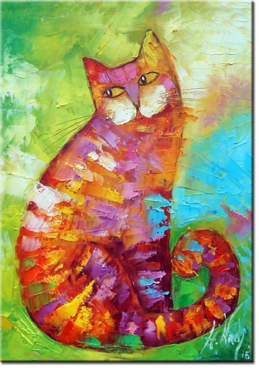 ozdoba ścian - wesoły kot