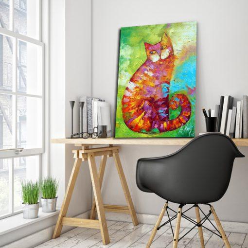 plakat z malarstwem - kotek