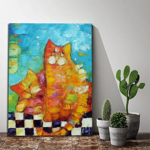 plakat jak malowany ze zwierzętami