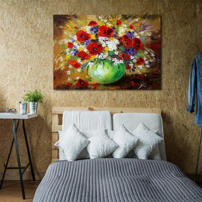 plakat z malarstwem maki i stokrotki