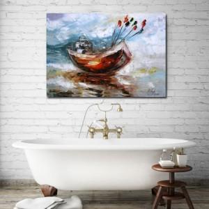 jakie dekoracje na ścianę do łazienki