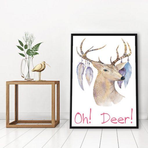 plakaty z jeleniami