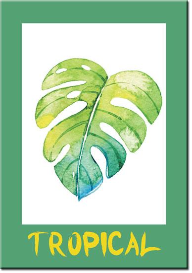 plqakaty z liściem