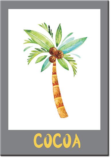 plakaty z palmą kokosową