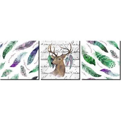 tryptyk bohotryptyk z jeleniem