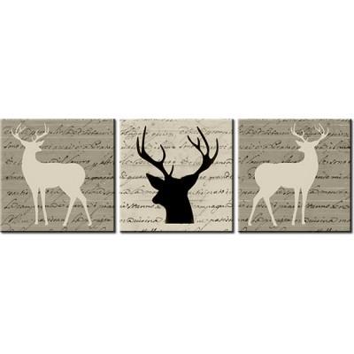 tryptyki z jeleniami