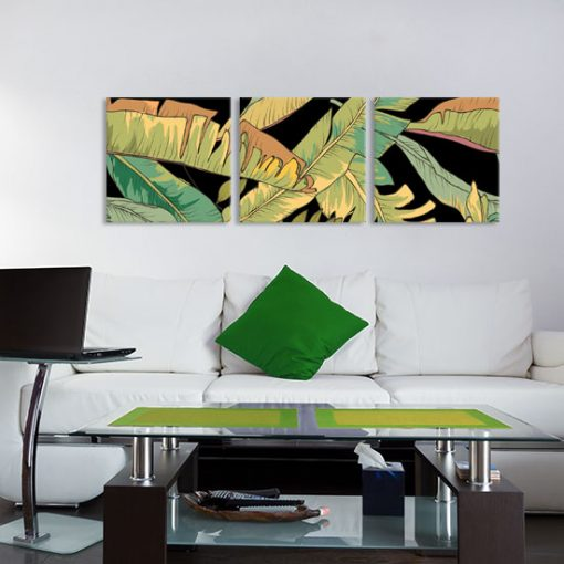 palmowe liście na obrazie