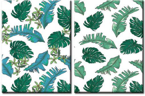 dyptyk z liśćmi