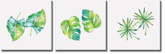 obrazy tryptyki z roślinami