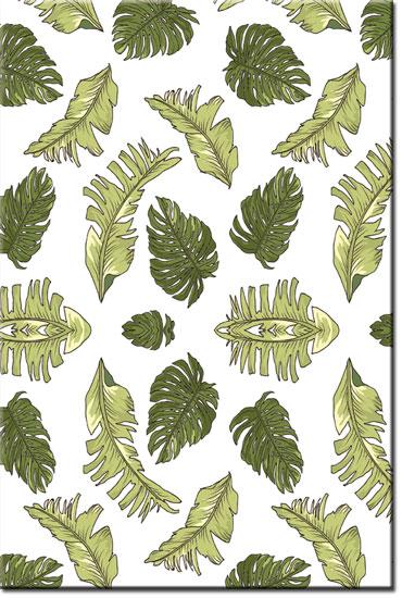 obrazy z ielone liście