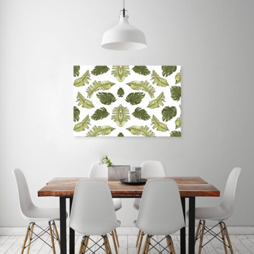 obrazy z zielonymi rioślinami