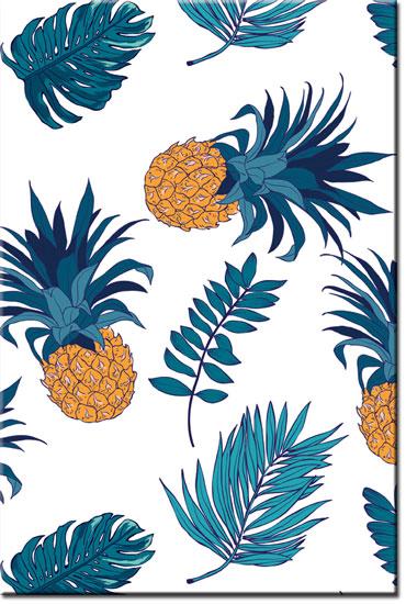 obrazy z ananasami