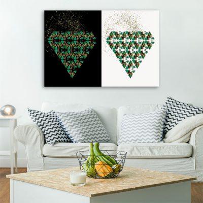 obrazy z liśćmi