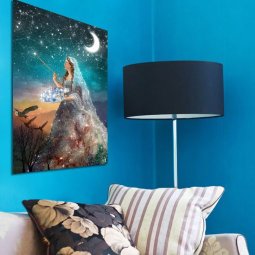 obraz księżyc i gwiazdy