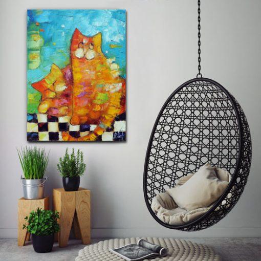 obrazy z kotami