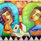 obraz z reprodukcją list miłosny