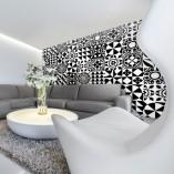 fototapeta czarno-biała marokańskie wzory