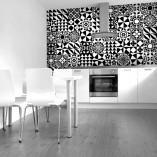czarno-białe kafle marokańskie fototapeta