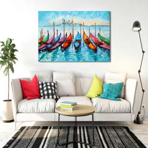 obraz jak malowany - łodzie