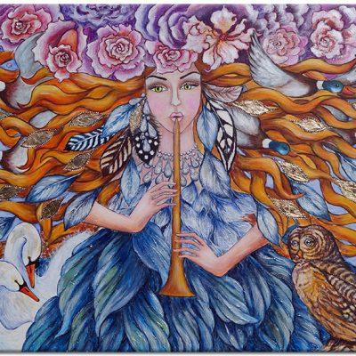 obraz rajski ptak