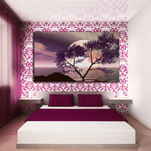 fioletowy motyw drzewa