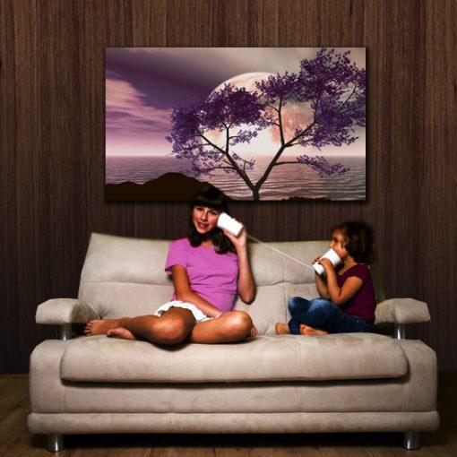 fioletowe drzewo - obraz