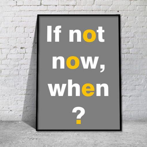 plakat motywacyjny z napisem