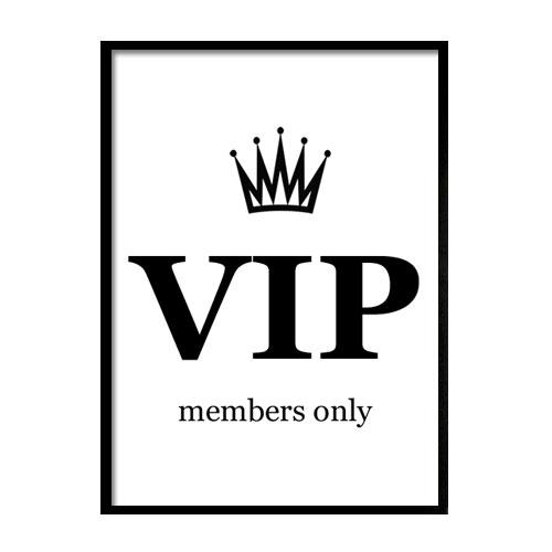 VIP jako plakat do domu