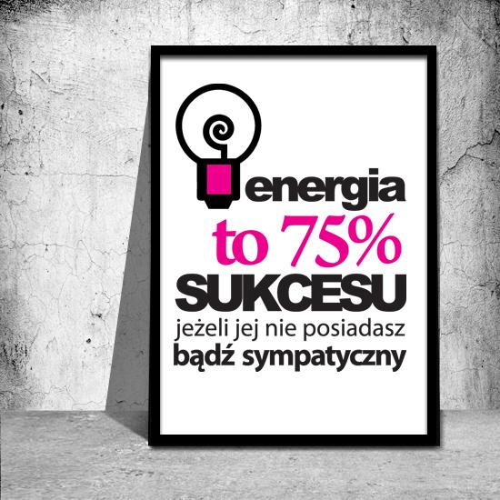 Plakat Z Napisem Energia To