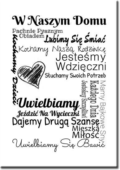 plakat z napisami o rodzinie