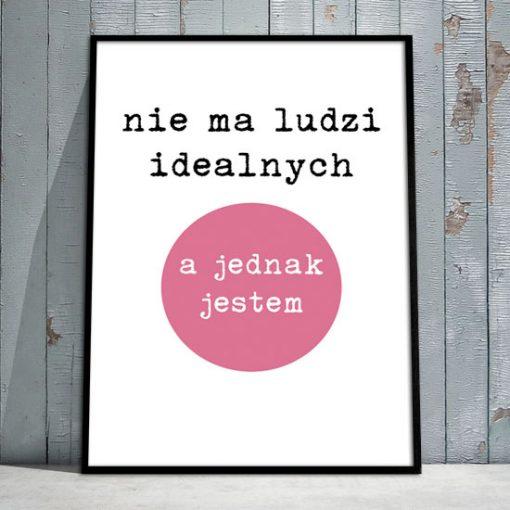 plakat z różowym kółkiem w ramce