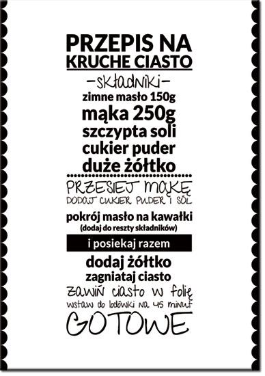plakatowa ozdoba do kuchni z przepisem
