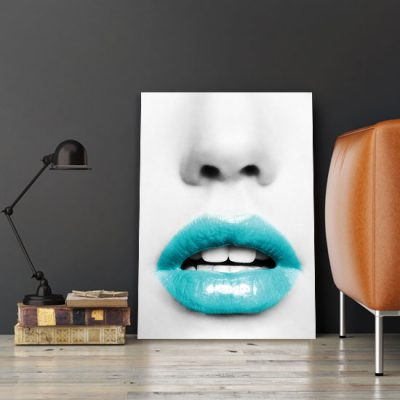 turkusowe usta