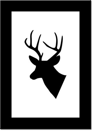 plakaty z trofeum mysliwskim