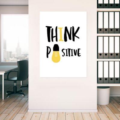 think positive na białym tle