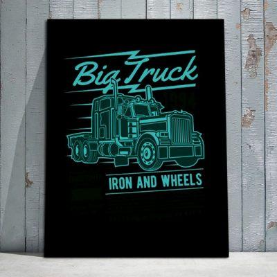 plakaty z ciężarówkami