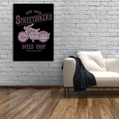 plakaty dla motocyklistów
