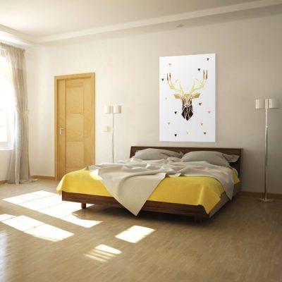 nad łóżkiem ścienna dekoracja