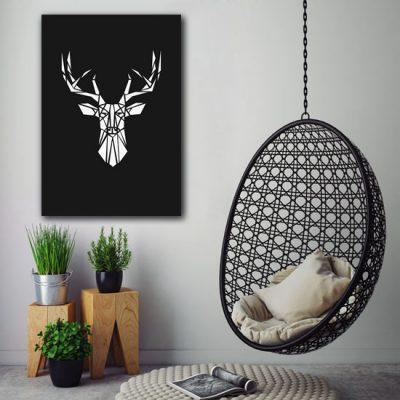 przykład obrazu z jeleniem
