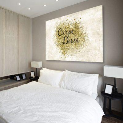 chwytaj dzień w sypialni - obraz