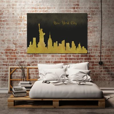 'New York City' w sypialni - obraz