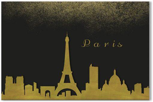 brokat z krajobrazem Paryża
