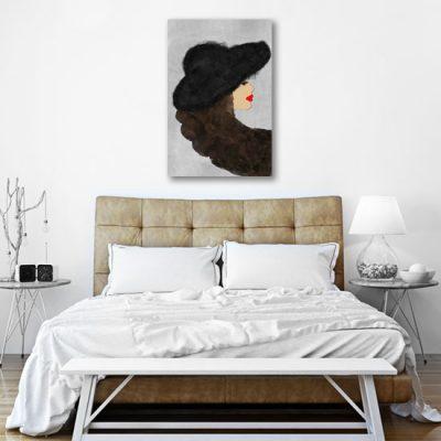 sypialniana dekoracja na ścianę