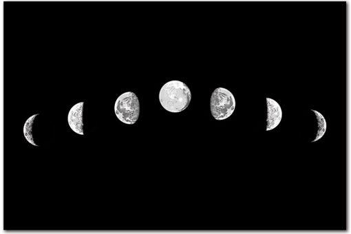 fazy księżyca na obrazie