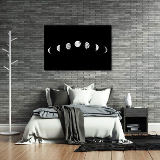 obraz na ścianę z księżycem